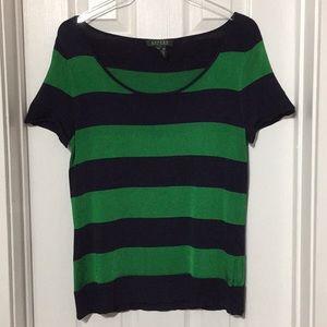 Ralph Lauren striped top blouse size Medium (&i)